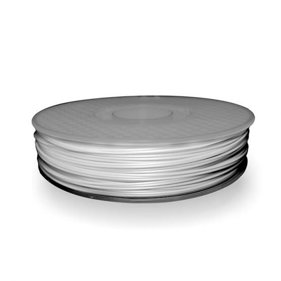 A spool of ABS plastic filament in 500g White