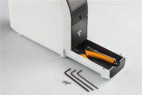 up mini 2 3d printer tools and accessories inside tool drawer