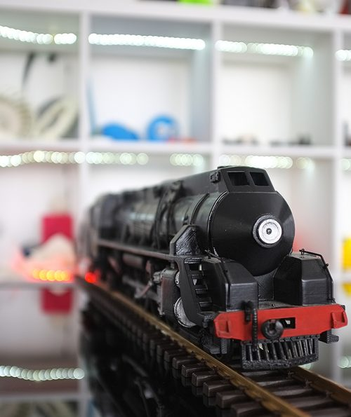 close up of 3D printed train in 3D printing systems Auckland